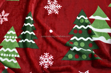 Christmas printing fleece fabric