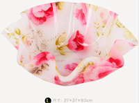 Big size high quality l round transparent acrylic fruit plate dry fruit plate,tray