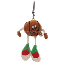 Creative 2015 toys new style basket ball doll plush keychain factory price