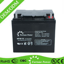 Sufficient capacity sealed lead acid dry charged battery 12v 38ah battery