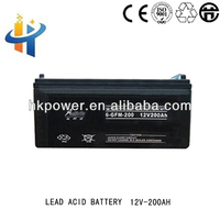 Excellent safety performance battery, Aokete 12V 200AH rechargeable lead acid batetry, ups battery