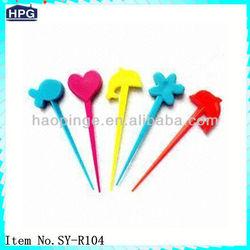 Colorful Plastic Fruit Pick&Stick