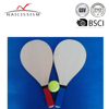 wooden beach paddle racket with 2 racket and 1 ball