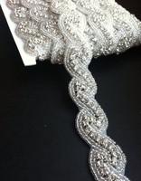 fashion pretty bride rhinestone belt trim for wedding dresses