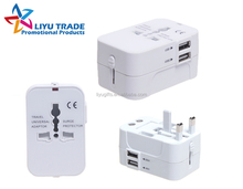 Multi-Nation world travel adaptor with USB Charger