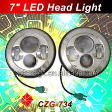 """made in China Best quality head lamp motorcycle 7"""" LED with hi/lo beam"""
