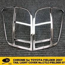 Chrome Tail light cover trim for TOYOTA FIELDER 2007 car lighting accessories chrome car accessories