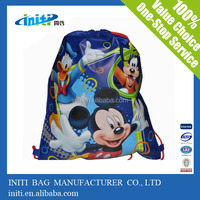 Suppermarket Nonwoven Bag/2014 Online Shopping Green Drawstring Suppermarket Nonwoven Bag
