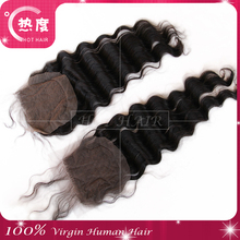 New Products Cheap Virgin Brazilian Hair Closure Piece Free Parting 3 Way Part Full Lace Closures Add 40 Can make Silk Base