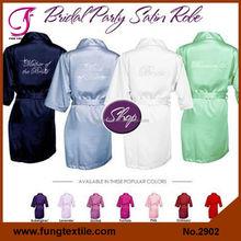 2902 Short Design Women Silk Satin Bathrobe