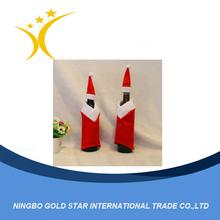 Happy exquisite santa costume shaped bottle cover