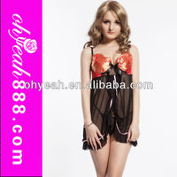 Latest design front open babydoll dress girls nighty sexy wear lingerie