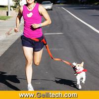 Wholesale Handfree Dog Leash Walk Run lead the pets dog collar and leash nylon dog leash material