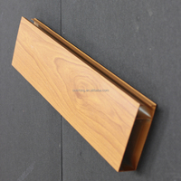 Nitric Acid Resistance Wood Grain Suspended Metal Strip Ceiling Aluminum Square Tube Screen Ceiling Panel