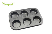 Non-stick Carbon Steel 6 cup cake pan Muffin Baking Pan