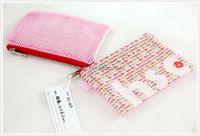 Pink Nylon Mesh Purse