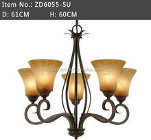 2015 American style Classic industrial iron frame large chandelier