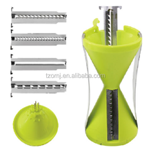 New 4-Blade Vnext generation Sprial slicer vegetable slicer transparent sprial slicer vegetable spiralizer customized products