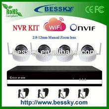 Bessky 4CH wifi ip camera nvr kit,low cost mini ip wifi camera,hot sell ip camera kit with nvr