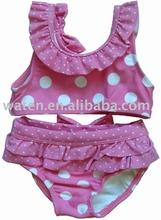 para niños de dos piezas lindo la impresión de puntos de trajes de baño convolantes
