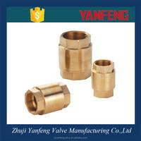 Hydraulic brass forging vertical check valve