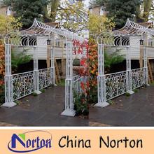 new style white garden wrought iron gazebo/cast iron pergola NTIG-017S