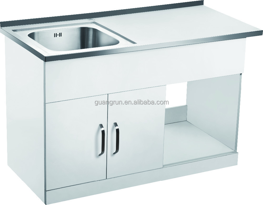 Sink Cabinet Stainless Steel Commercial Kitchen Cabinet Stainless