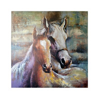 Modern Horse Oil Painting Abstract Animal Wall Art on Canvas