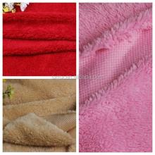 sherpa fleece shu velveteen fabric for quilt cover sleepwear garment