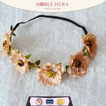 new arrival fashion crochet handmade headband crystal bridal headband shrek headband