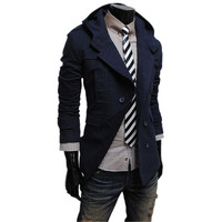 1 pc hot sale cotton and polyester mixed 4 colors for choice cheap price fashion casual men coat