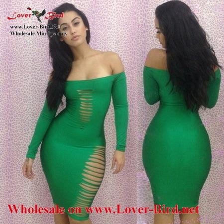 yellow dress tight green