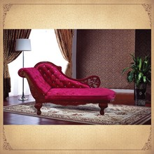 Golden Suppiler Vintage Rose Red Upholstering Lounge Settee Antique Chairs