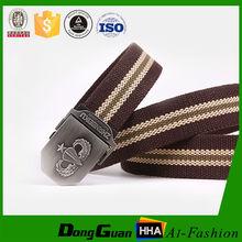 Cheap famale canvas fashion belt with OEM design