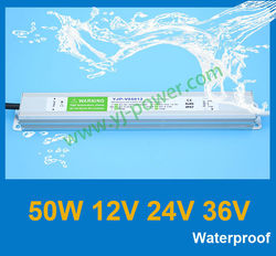 Fedex/DHL free shipping, waterproof electronic led driver 12v 50w for outdoor led undergound light, CE RoHS IP67
