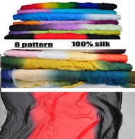 8 pattern 100%silk ombre silk chiffon fabric in stock wholesale