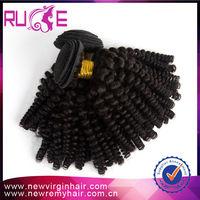 Free Shipping 18inch 5A grade afro nubian twist Kinky Curl malaysian virgin hair