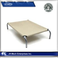 In/Outdoor Elevated Pet Bed with Knitted Fabric for Dogs & Cats