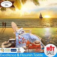 YM-0294 100% polyester beach blanket wholesale