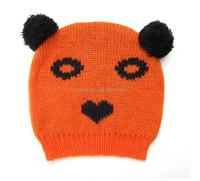 Winter Cute Cartoon Shaped Acrylic Crochet Knit Kids Hats Wholesale
