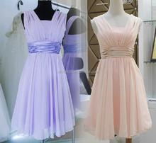 SW391 cheap purple chiffon evening plus size bridesmaid dress