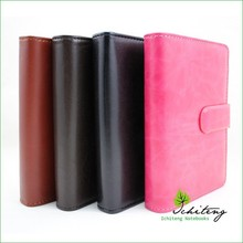 Refillable Genuine Leather Composition Pocket Notebook