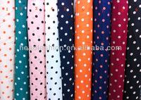manufacturer women dress polka dot chiffon fabric