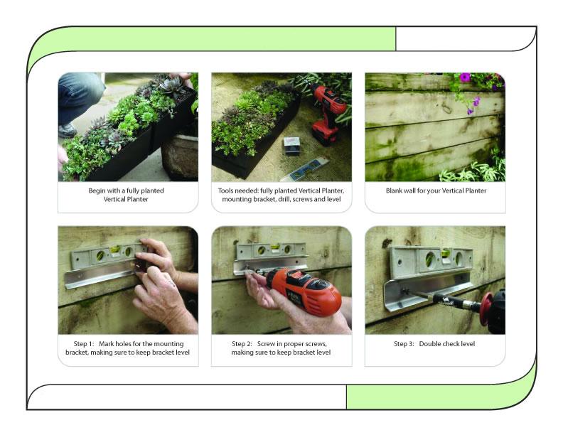 cerca para jardim vertical:campo verde jardim vertical bolso com sistema de irrigação-Vasos e