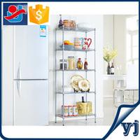 Duable metal wire shelving/Tableware/Food/Shampoo/bathroom ware floating shelf