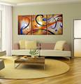 Grupo abstracta moderna de la lona pintura al óleo del arte