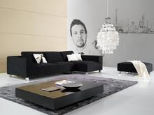 Modern Hot Sale Elegant Black Fabric Diwan Sofa Sets L Shaped Sofa Set Fabrique Sofa