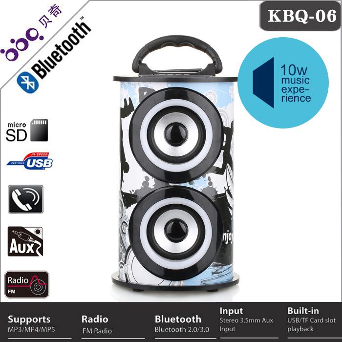 2015 New Karaoke função super bass portable speaker com usb