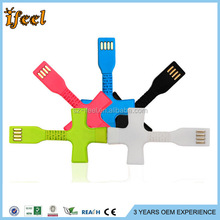 Portable Micro Keychain Usb Cable For Iphone/For Samsung
