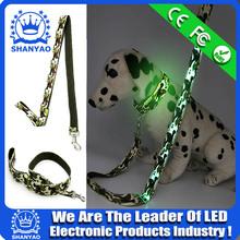 2016 New Custom LED Nylon Pet Dog Leash With Camouflage Printing
